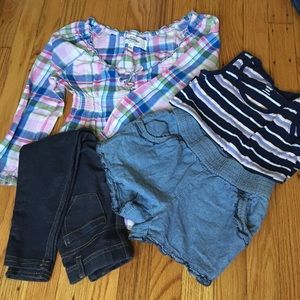 2 Girl's Size 5/S jeggings / shorts outfit bundle!